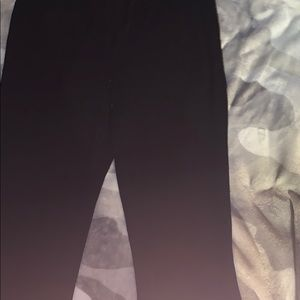 Black flair pants